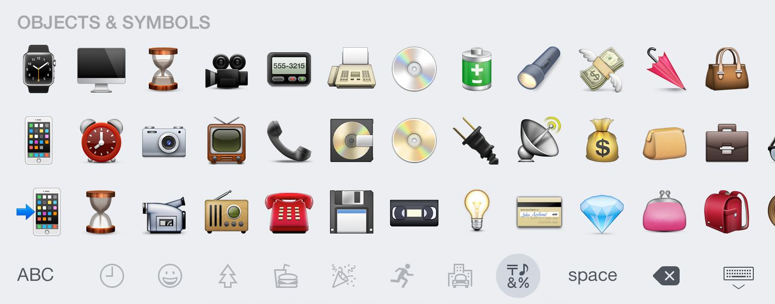 Des objets de toute sorte en Emojis