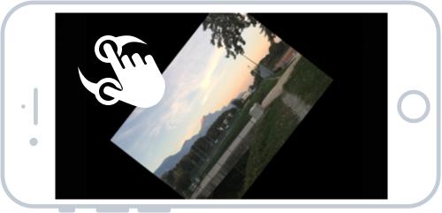 Rotation d'une image avec deux doigts que vous faites tourner