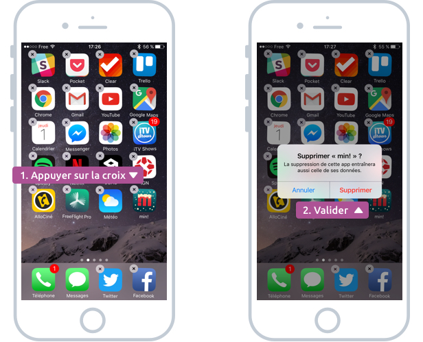 Supprimer une app de son iPhone / iPad