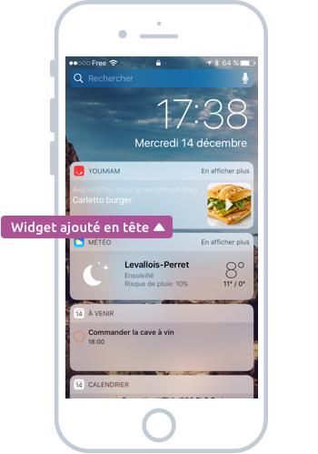 Ajouter un Widget sur iOS