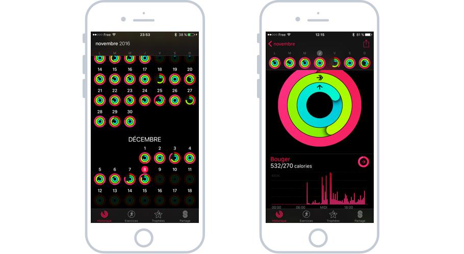 L'app de suivi d'activités physiques sur iOS