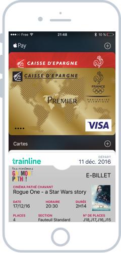 Apple Wallet stocke vos cartes et billets