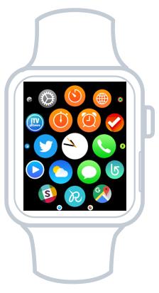 Des centaines d'apps sont disponibles pour la Watch
