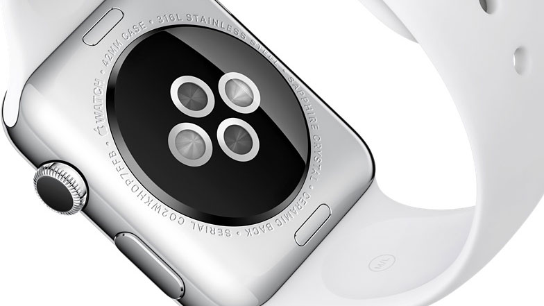 L'apple Watch possède des capteurs à l'arrière