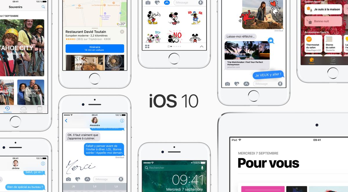 La page de présentation des nouveautés iOS 10 sur le site d'Apple