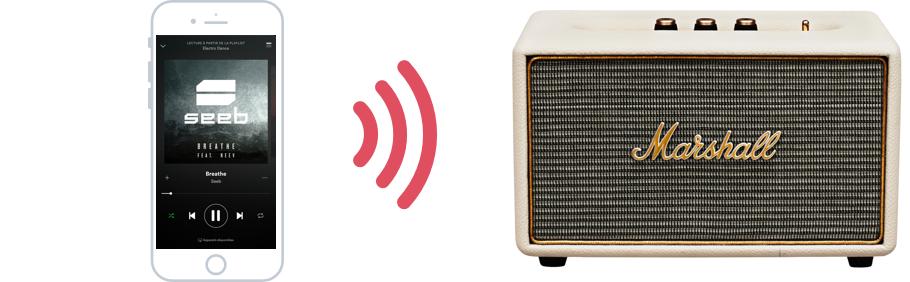 Reliez une enceinte audio à votre iPhone via Bluetooth