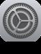 L'icône de l'app Réglages de l'iPhone