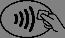 Les bornes de paiement compatible sans contact affichent ce logo