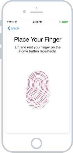 Le scan de votre empreinte Touch ID