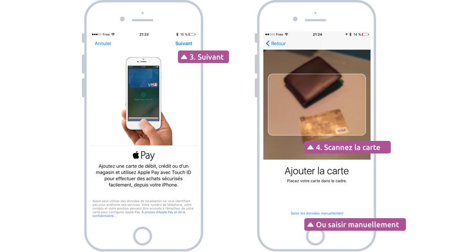 Scanner votre carte bancaire via l'iPhone