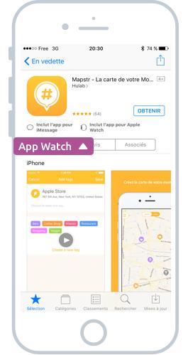Les apps compatibles Watch depuis l'App Store