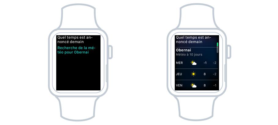 La météo avec Siri sur la Watch