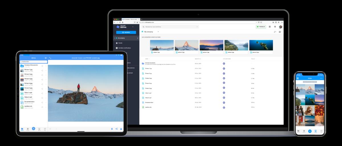 L'application kDrive est disponible sur tous les systèmes : Android, iOS, Windows, Mac...