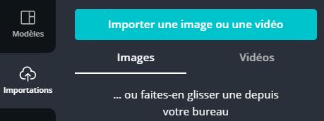 Importer une vidéo, une image, un logo ou une photo depuis votre ordinateur