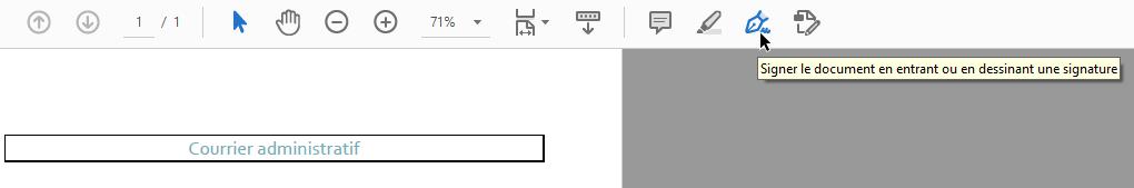 L'icône des outils de modification sur adobe acrobat reader est un style plume