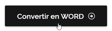 Bouton de conversion en format Word sur Ilovepdf