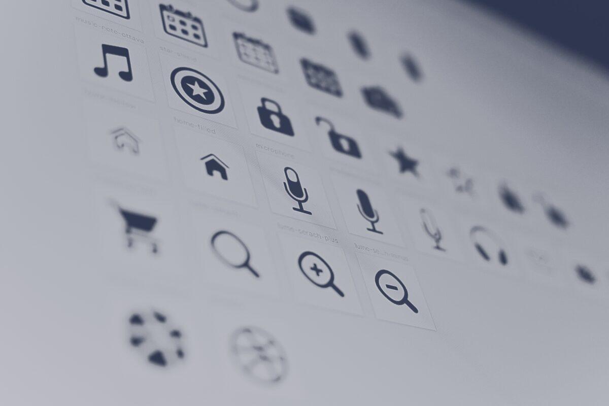 les principales icônes que l'on peut trouver en informatique